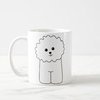 Bichon Frise, perro lindo Taza De Café
