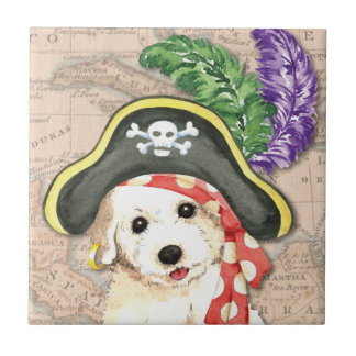 Bichon Frise Pirate Ceramic Tile
