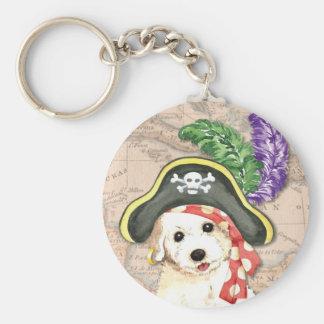 Bichon Frise Pirate Keychain