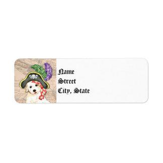 Bichon Frise Pirate Label