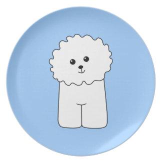 Bichon Frise. Plate