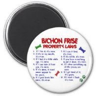 BICHON FRISE Property Laws 2 Fridge Magnets