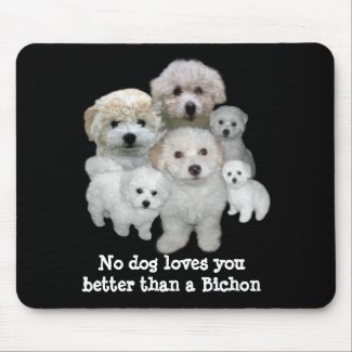 Bichon Frise Puppies Mousepad