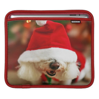 Bichon Frise puppy wearing Santa costume Sleeves For iPads