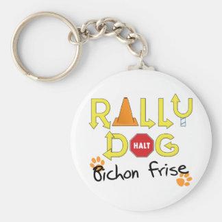 Bichon Frise Rally Dog Basic Round Button Keychain