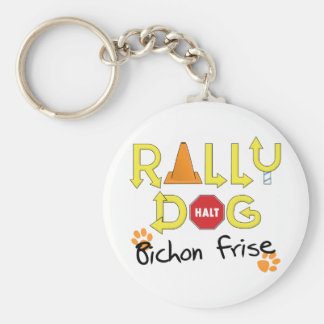 Bichon Frise Rally Dog Keychain