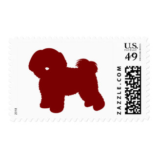 Bichon Frise (Red) Postage