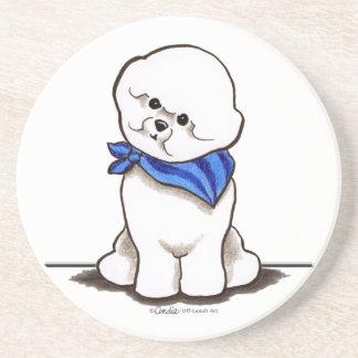 Bichon Frise Sailor Boy Blue Coaster