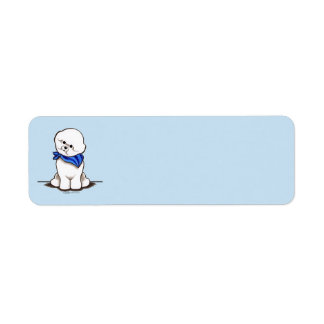 Bichon Frise Sailor Boy Blue Return Address Label