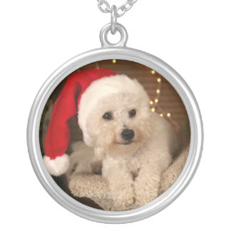 Bichon Frise customized necklace with your dog photo