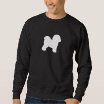 Bichon Frise Silhouette Sweatshirt