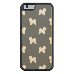 Carved ® iPhone 6 Bumper Wood Case with Bichon Frise Phone Cases design