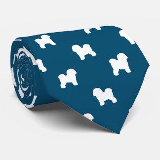 Bichon Frise Silhouettes Pattern Neck Tie
