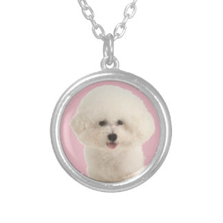 Bichon Frise Silver Plated Necklace
