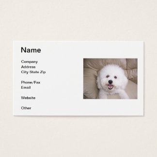 Bichon Frise Smiling Business Card