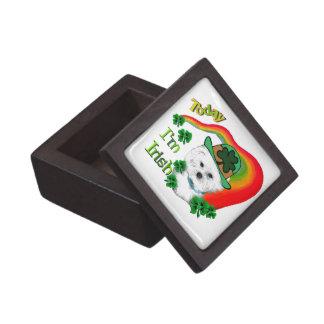 Bichon Frise St Patricks Premium Trinket Box