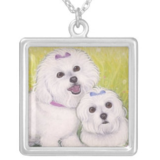 Bichon Frise sterling necklace