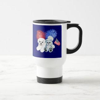 Bichon Frise & Teddy USA MUG