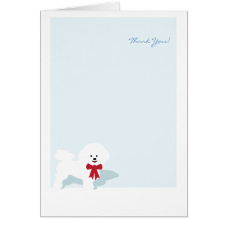 Bichon Frise Thank You Custom Notecard Card