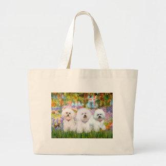 Bichon Frise Trio - Garden (VG) Canvas Bags