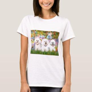 Bichon Frise Trio - Garden (VG) T-Shirt