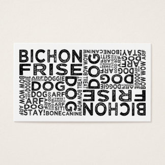 Bichon Frise Typography Business Card