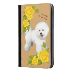 iPad Mini Folio Case with Bichon Frise Phone Cases design