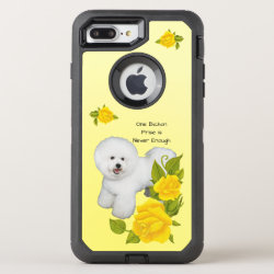 Bichon Frise, with Yellow Roses OtterBox Defender iPhone 8 Plus/7 Plus Case