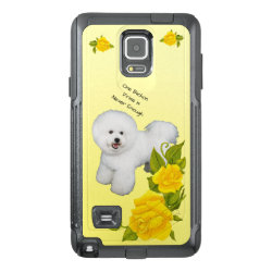 OtterBox Commuter Samsung Note 4 Case with Bichon Frise Phone Cases design
