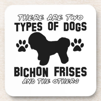 Bichon frises gift items drink coasters