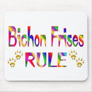 Bichon Frises Rule Mouse Pad