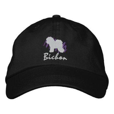 Bichon garabateado gorras de beisbol bordadas