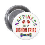 Bichon Happiness Pinback Button
