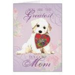Bichon Heart Mom Card