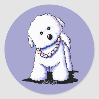 Bichon In Pearls Stickers