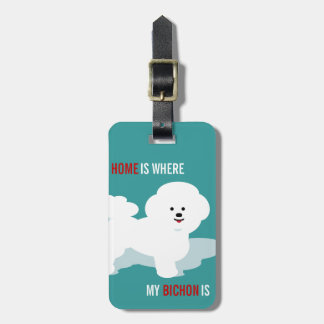 Bichon Love Design Travel Gift Tags For Luggage