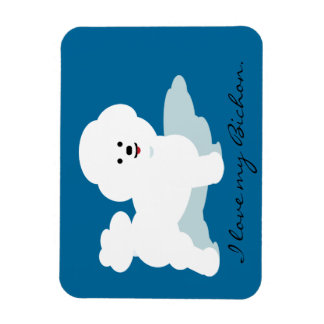 Bichon Love Magnets in Blue