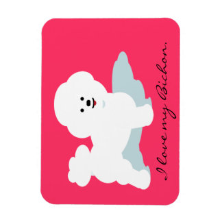 Bichon Love Magnets in Pink