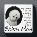 """Bichon Mom Plaque<br><div class=""""desc"""">This Bichon Frise Plaque is a great gift for any Bichon Mom.</div>"""