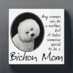 "Bichon Mom Plaque<br><div class=""desc"">This Bichon Frise Plaque is a great gift for any Bichon Mom.</div>"