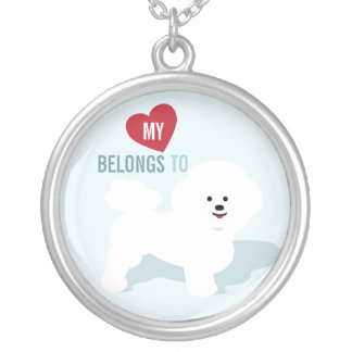 Bichon Necklace - My heart belongs to Bichons