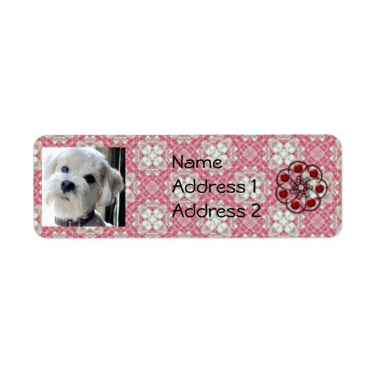 bichon poodle dog address labels