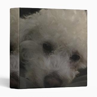 """Bichon Poodle Puppy Dog 3 Ring Binders"