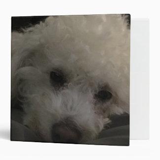 """Bichon Poodle Puppy Dog Vinyl Binders"