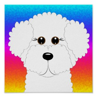 Bichon Puppy print