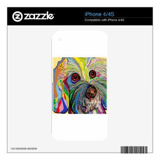 Bichon  . . .  Shoe Man iPhone 4 Decals
