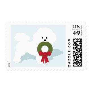 Bichon Winter Holidays Stamp