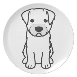 Bichon Yorkie Dog Cartoon Party Plates