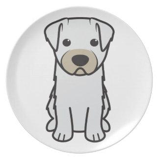 Bichon Yorkie Dog Cartoon Party Plate