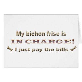 bichonfrise greeting card